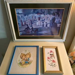 Lot # 131 Lot of Framed Prints - Nature and People