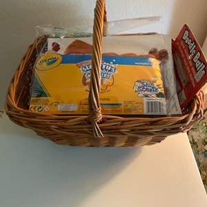 Lot # 134 Basket Full of Art Supplies and Coloring Books