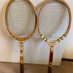 Lot # 138 Wilson Brand Tennis Racquets