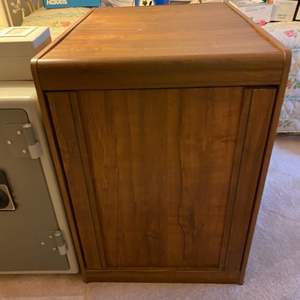 Lot # 139 Wooden End Table with Cabinet