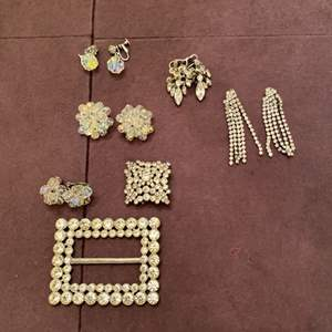 Lot # 143 Similarly Colored Pins and Earrings