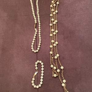 Lot # 163 Three Pieces of Pearl/Beaded Jewelry