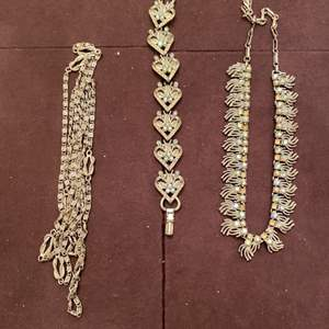 Lot # 166 Lot of Silver-Tone Bracelets