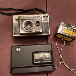 Lot # 175 Lot of Two Cameras with Extra Film