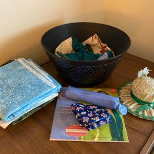 Lot # 186 Lot of Arts-and-Crafts Items - Crochet Guide, Yarn, Sewing Supplies, Etc.