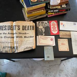 Lot # 205 Lot of Historical Papers - Newspaper, Old Envelopes, Etc.