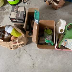 Lot # 236 Lot of Gardening Supplies - Sprayer, Tools, Miracle Gro, Etc.