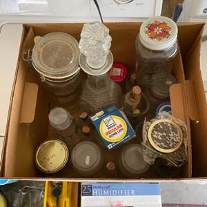 Lot # 240 Box Full of Glass Containers
