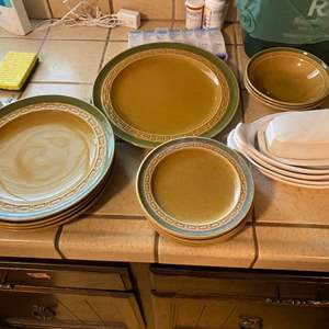 Lot # 244 Lot with Two Different Types of Dishware