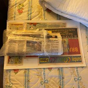 Lot # 256 Lot of Old Newspapers