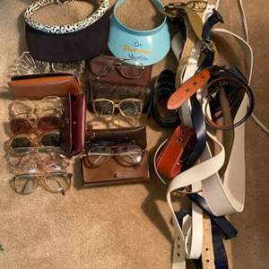 Lot # 259 Lot of Glasses and Belts