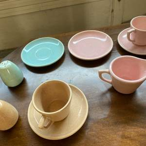 """Lot # 307 Colorful Dishes in a Similar Style (Some Marked """"Bauer"""")"""