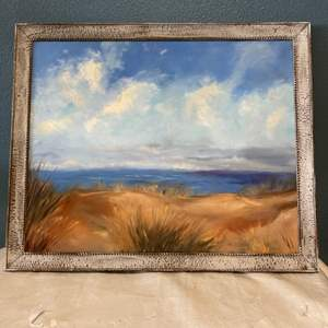 Lot # 69 Framed Painting of Beach Scene, No Signature