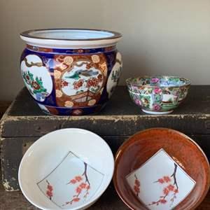 """Lot # 34 Vintage Japanese """"Gold-Imari"""" Bowl & More"""