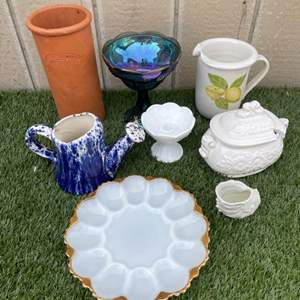 Lot # 204 Vintage Assorted Glass and Ceramic Lot