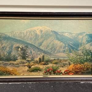 """Lot # 248 Vintage """"Desert Grandeur"""" Print by Robert Wood"""