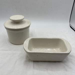 Lot # 225 Set of Matching Stone Dishes