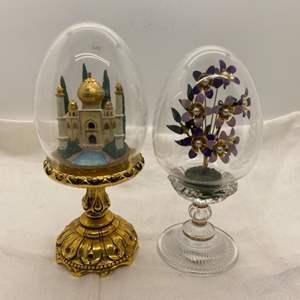 Lot # 7 Franklin Mint Egg Miniature Displays