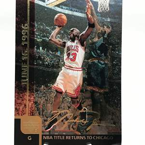 Lot # 214 1999 Upper Deck Oversized Gatorade MICHAEL JORDAN