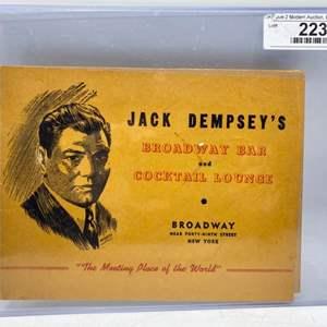 Lot # 21 Souvenir Photo from Jack Dempsey's