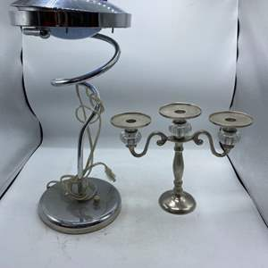 Lot # 90 Candelabra and Desk Lamp (Does Not Power On)