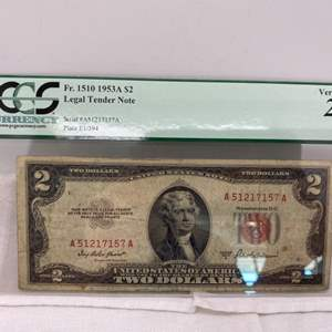 Lot # 132 Two Dollar Legal Tender Note #4