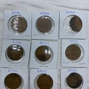 Lot # 207 Lot of 20 Centavos Coins (1945 - 1970)