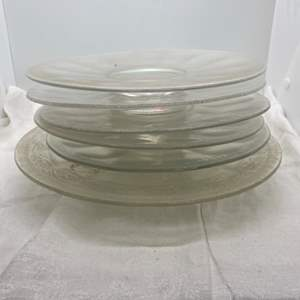Lot # 128 Lot of Clear Iridescent Plates, and Cake Plate
