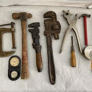 Auction Thumbnail for: Lot # 36 Small Lot of Old Tools