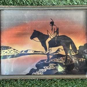 Lot # 98 Vintage Glass Art American Indian