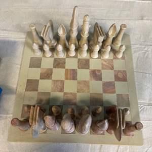 Lot # 23 Chessboard with Unique Designs