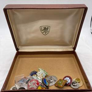Lot # 106 Fancy Box Filled With Pins