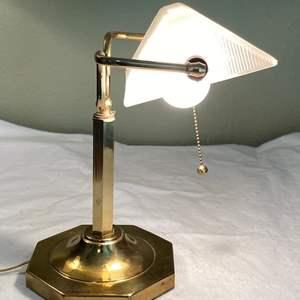 Lot # 4 Brass Desk Lamp