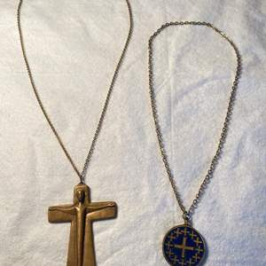 Lot # 12 Lot of 2 Religious Cross Necklaces
