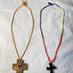 Lot # 13 Lot of 2 Religious Cross Necklaces