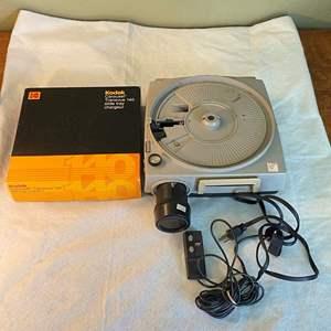 Lot # 16 Kodak Ektagraphic Slide Project Model E2 with Carousel Tray