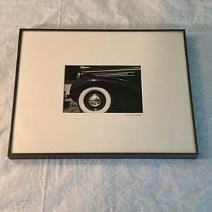 "Lot # 20 Photograph of Classic Car, Photographer ""Paul Brenner"""