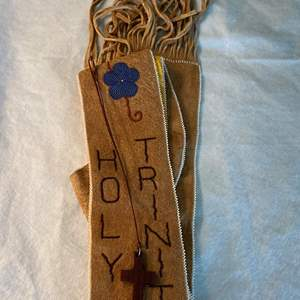 Lot # 25 Priest Beaded Sash and Cross Necklace