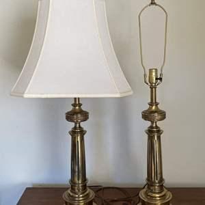 Lot # 30 Pair of Heavy Stiffel Brass Lamps