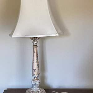 Lot # 31 Dresden Floral Gold Embellished Lamp
