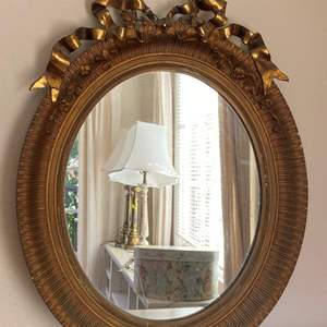Lot # 32 Vintage Gold Frame Wall Mirror