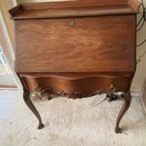Lot # 35 Vintage Drop Down Secretarial Desk