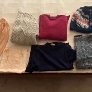Lot # 37 Lot of Wool Sweaters