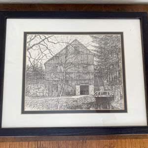 "Lot # 55 ""The Wight Gristmill"" Old Sturbridge Village Print"