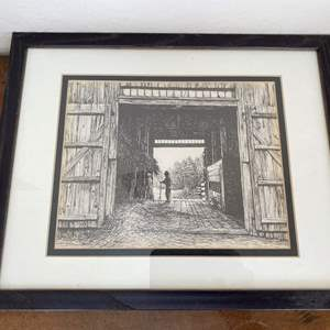 "Lot # 56 ""At the Pliny Freeman Farm"" Old Sturbridge Village Print"