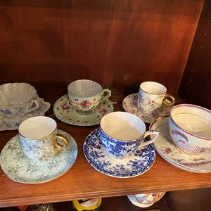 Lot # 66 Lot of 6 Sets of Tea Cups and Saucers