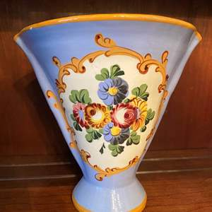 Lot # 67 Italy Floral Vase