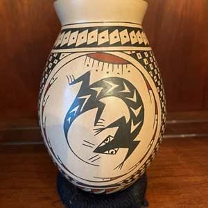 Lot # 71 Lupita S Ortiz's Signed Vase