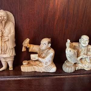 Lot # 85 Japan Miniature Figurines - Bone?