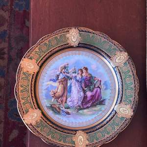 """Lot # 94 Decorative Plate Marked """"Imperial"""""""